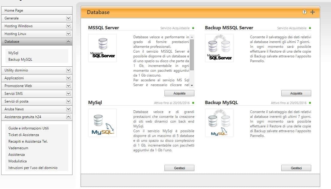 Aruba Database