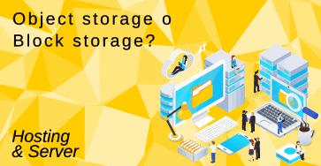 Object Storage O Block Storage